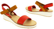 Womens BETSY Wedge Heel Strappy Sandals Thumbnail 11