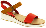 Womens BETSY Wedge Heel Strappy Sandals Thumbnail 7