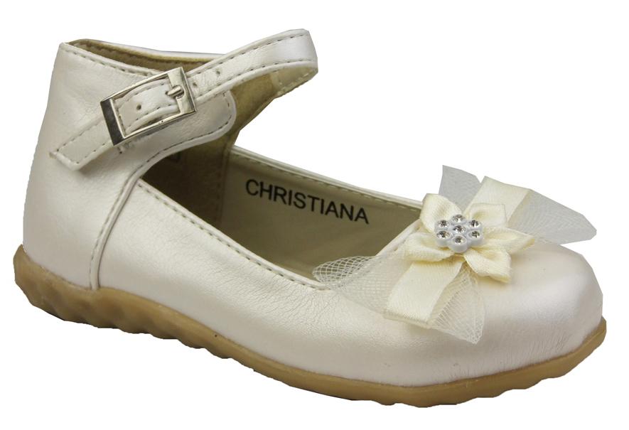 GIRLS TODDLER INFANT BABY IVORY CHRISTENING WEDDING FLOWER SHOES 3 4 5 6 7 8 9 | EBay