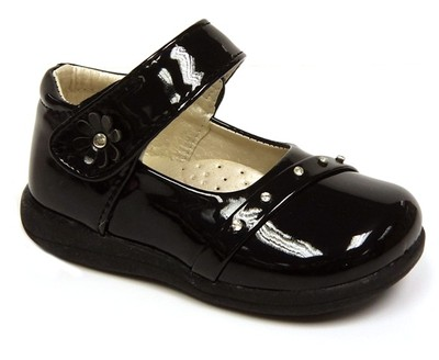 new infant baby toddler black patent formal