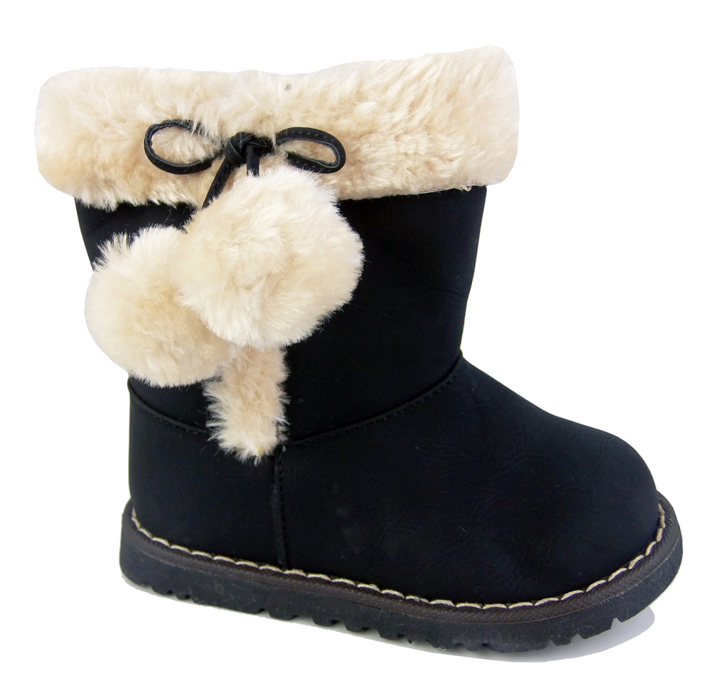 $ - Girls' Shoes Paillette / PU Fall / Winter Comfort / Snow Boots Boots Walking Shoes Pom-pom for Black / Gray / Pink / Mid-Calf Boots Shop for cheap Girls' Shoes online? Buy at gtacashbank.ga on sale today!
