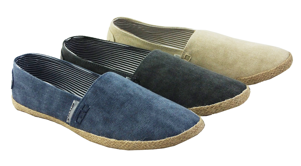 espadrilles herren dunlop grau sand blau leinen schuhe gr e 41 42 43 44 5 46. Black Bedroom Furniture Sets. Home Design Ideas