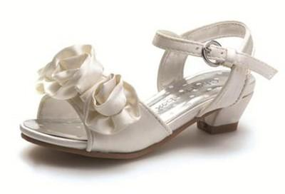 image is loading toddler infant girls ivory satin party sandals wedding
