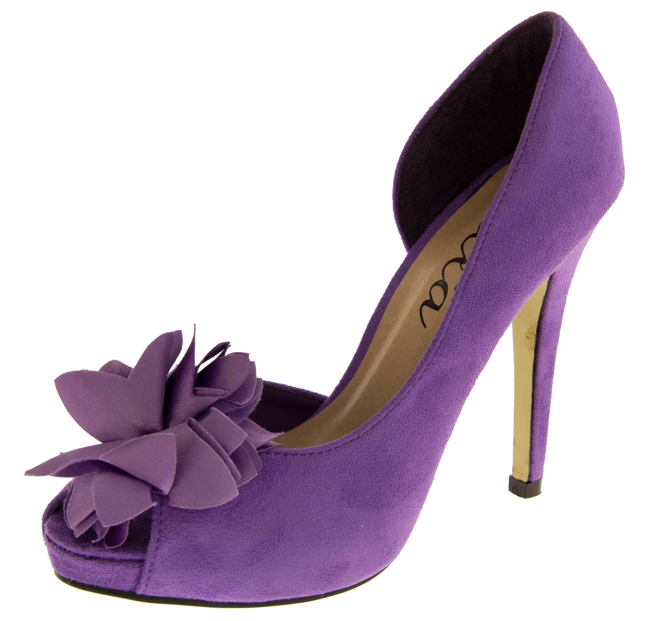 Purple And Yellow Heels