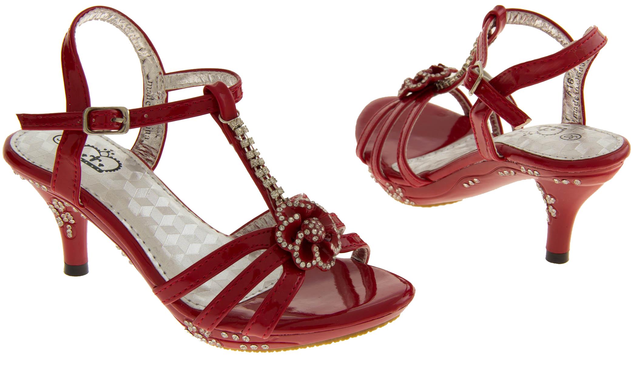 Low Heel Red Wedding Shoes