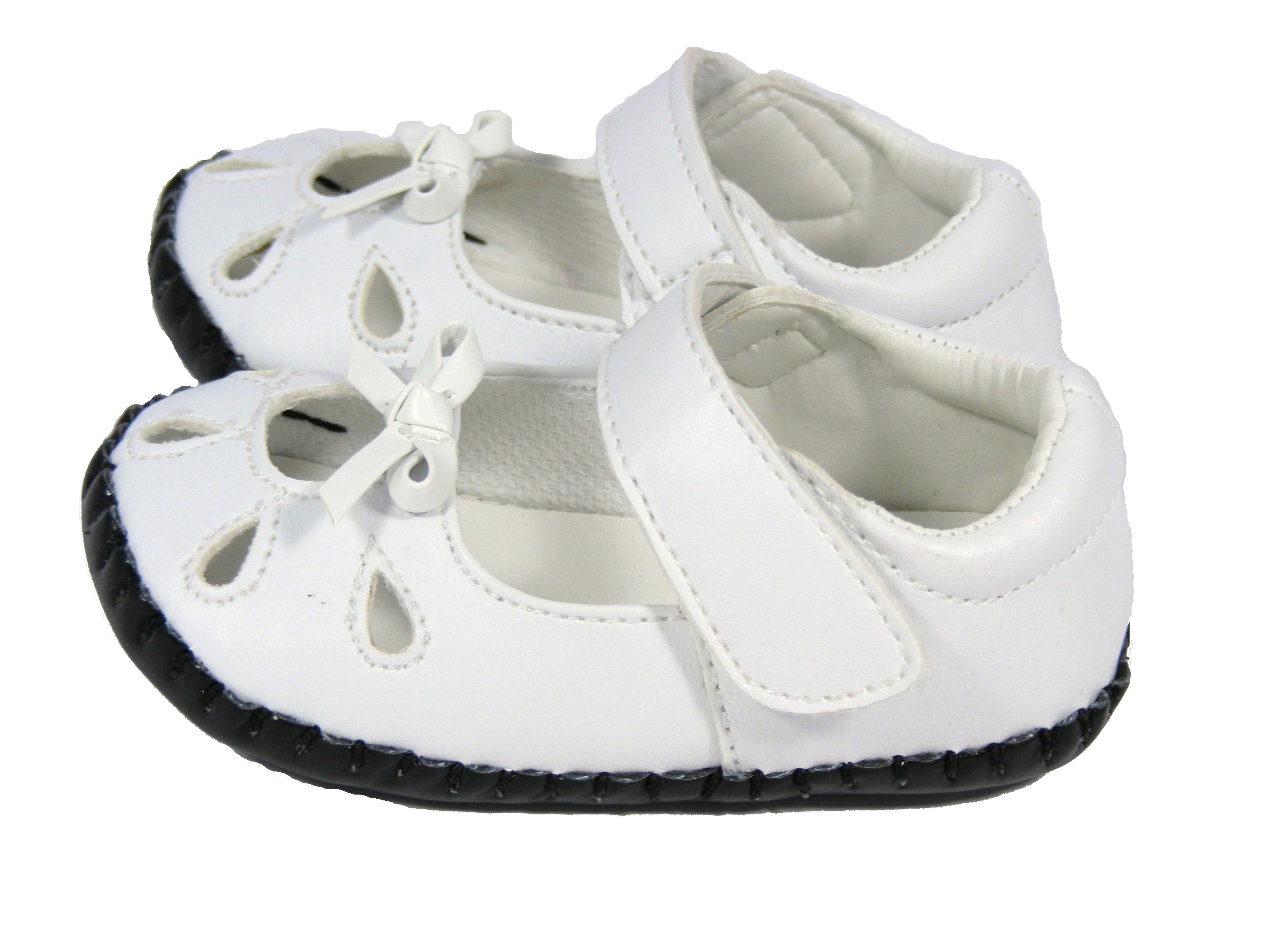 New Baby Infant Toddler Girls White Kiddiflex Sandals Pram ...