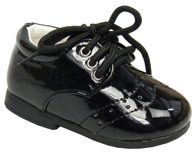Tiny Baby Newborn Boys Girls Black Laces Christening Wedding Shoes Sz Size 0 1