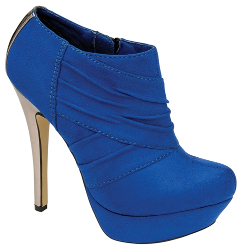New-Ladies-ODEON-Royal-Blue-Ankle-Boots-Party- - New Ladies ODEON Royal Blue Ankle Boots Party Platform High Heels