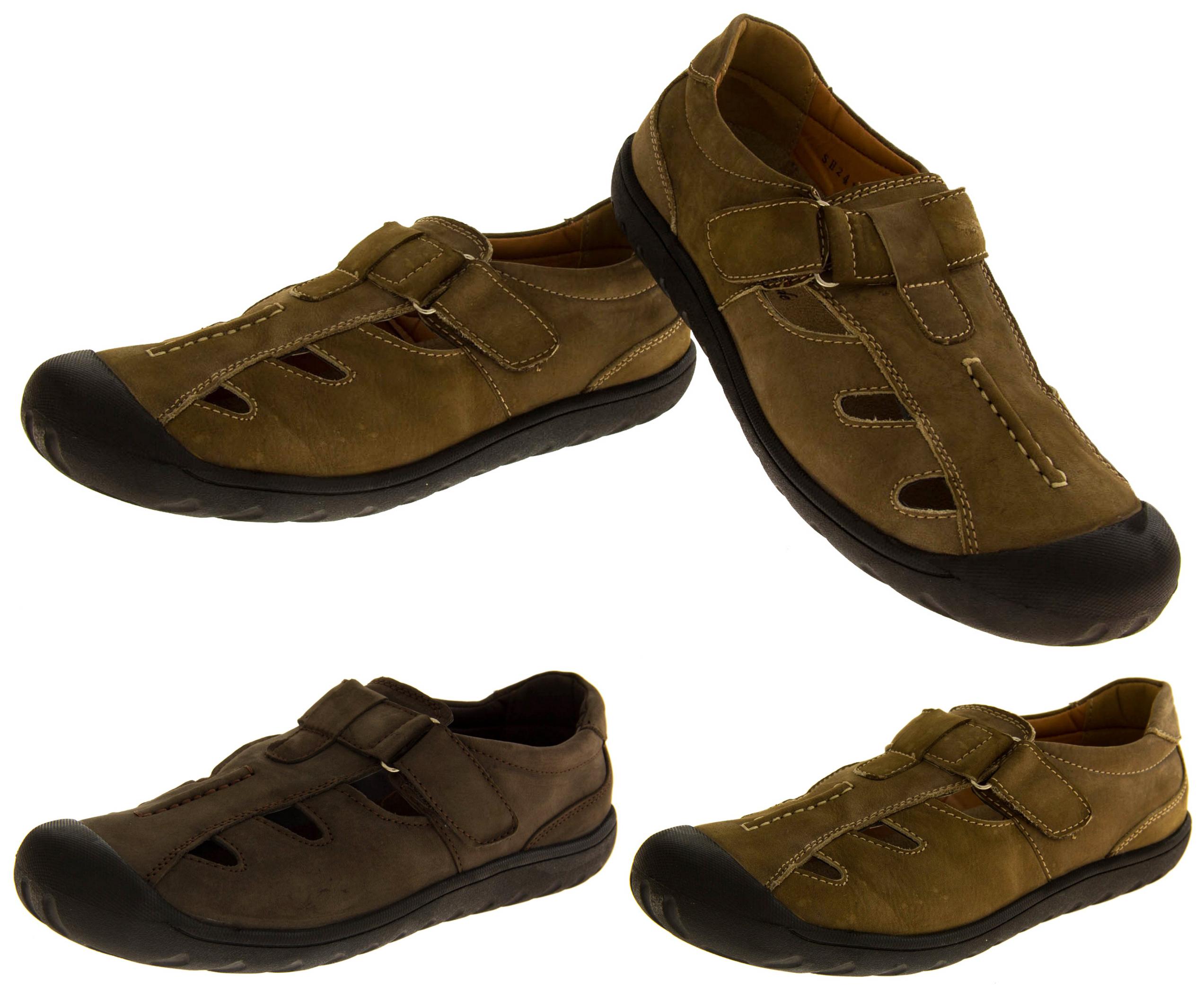shoreside herren leder geschlossen wander outdoor sport freizeit sommer sandalen ebay. Black Bedroom Furniture Sets. Home Design Ideas