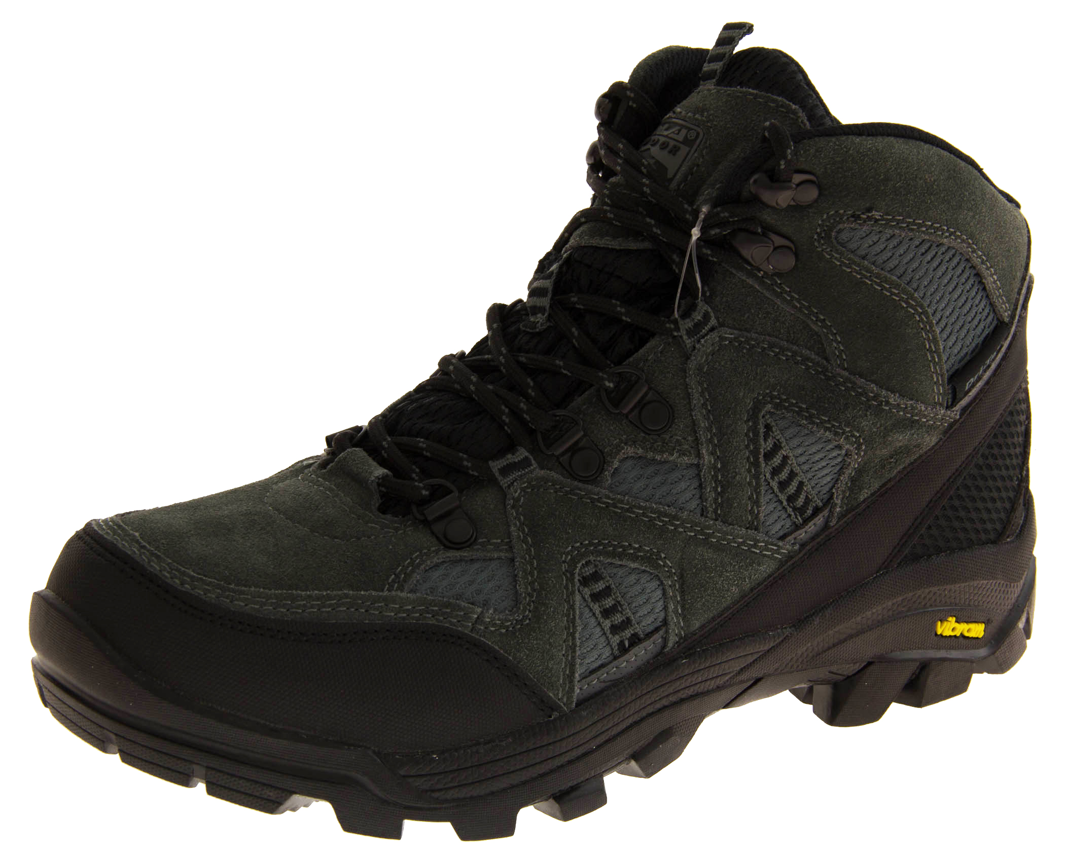 mens gola vibram leather walking boots sturdy outdoor trek