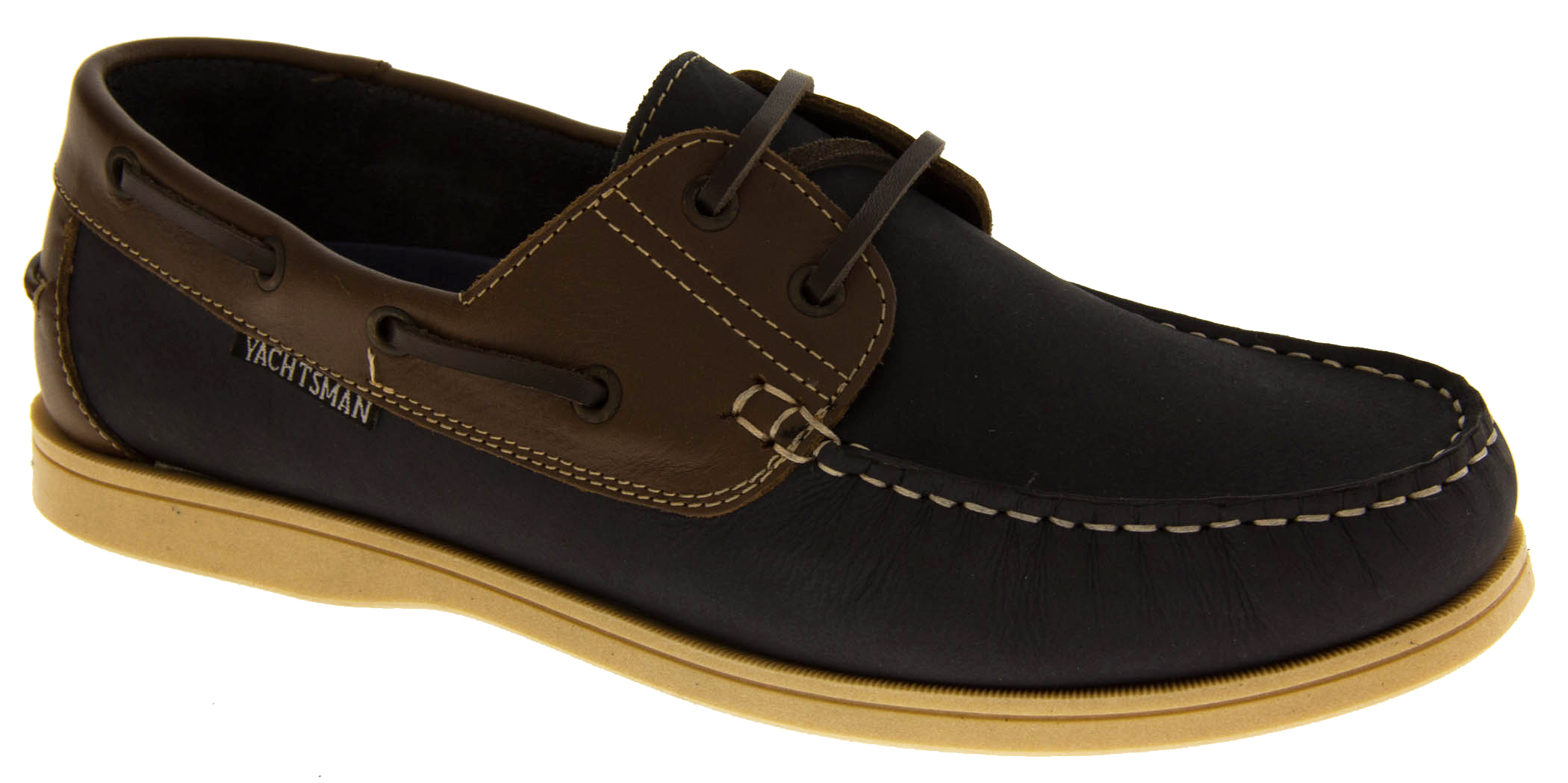 gents leather yachtsman smart formal lace up comfy boating