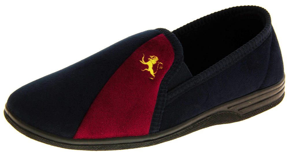 Mens Lion Two-toned Shoe Slippers