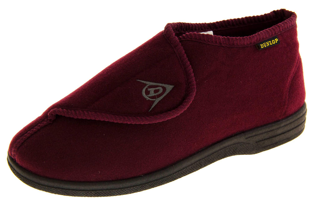 Mens DUNLOP Orthopaedic Adjustable Boot Slippers