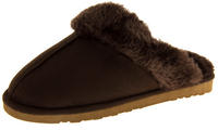 Womens DUNLOP Faux Fur Lined Slipper Mules Thumbnail 7