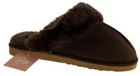 Womens DUNLOP Faux Fur Lined Slipper Mules Thumbnail 8