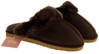 Womens DUNLOP Faux Fur Lined Slipper Mules Thumbnail 9