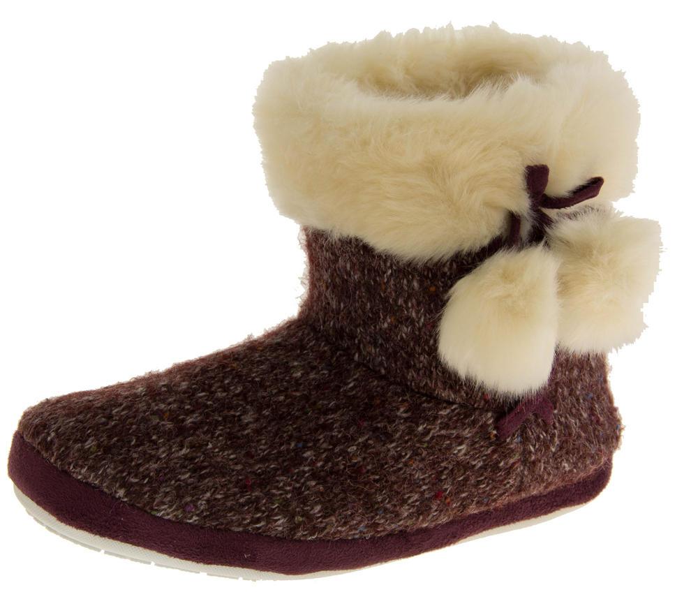 Ladies DUNLOP Faux Fur Lined Slipper Boots