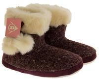 Ladies DUNLOP Faux Fur Lined Slipper Boots Thumbnail 3
