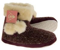 Ladies DUNLOP Faux Fur Lined Slipper Boots Thumbnail 4