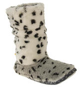 Ladies Faux Fur Slouch Slipper Boots Thumbnail 8