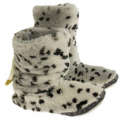 Ladies Faux Fur Slouch Slipper Boots Thumbnail 9