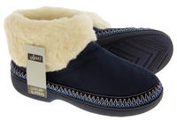 Ladies JYOTI Faux Suede Outdoor Sole Slipper Boots Thumbnail 5
