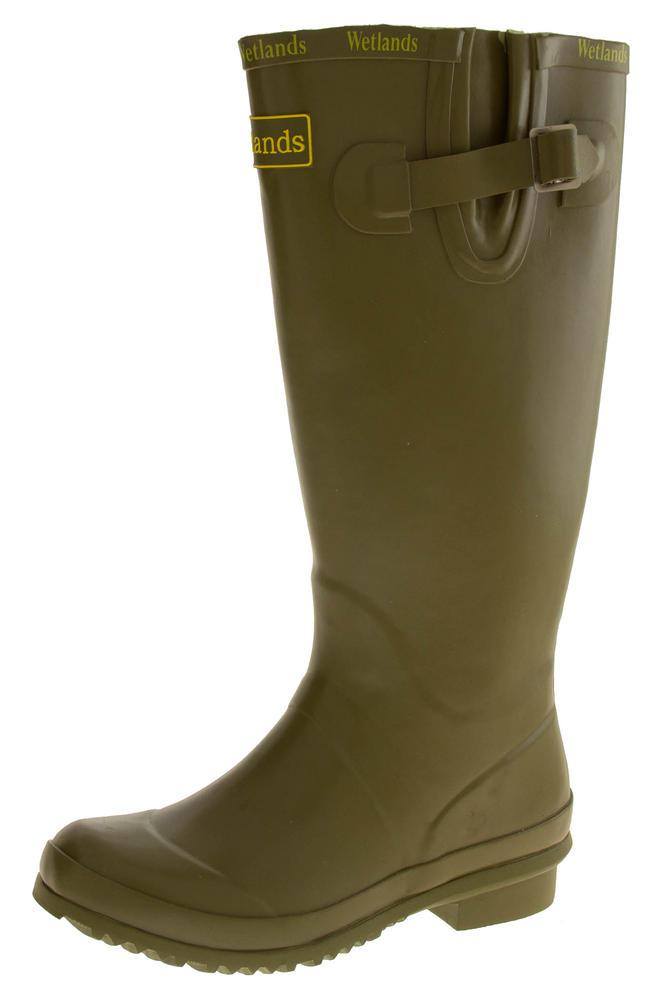 Womens WETLANDS Green Knee High Wellington Boots