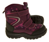 Boys Girls Faux Fur Lined Winter Snow Boots Thumbnail 7
