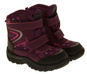 Boys Girls Faux Fur Lined Winter Snow Boots Thumbnail 8