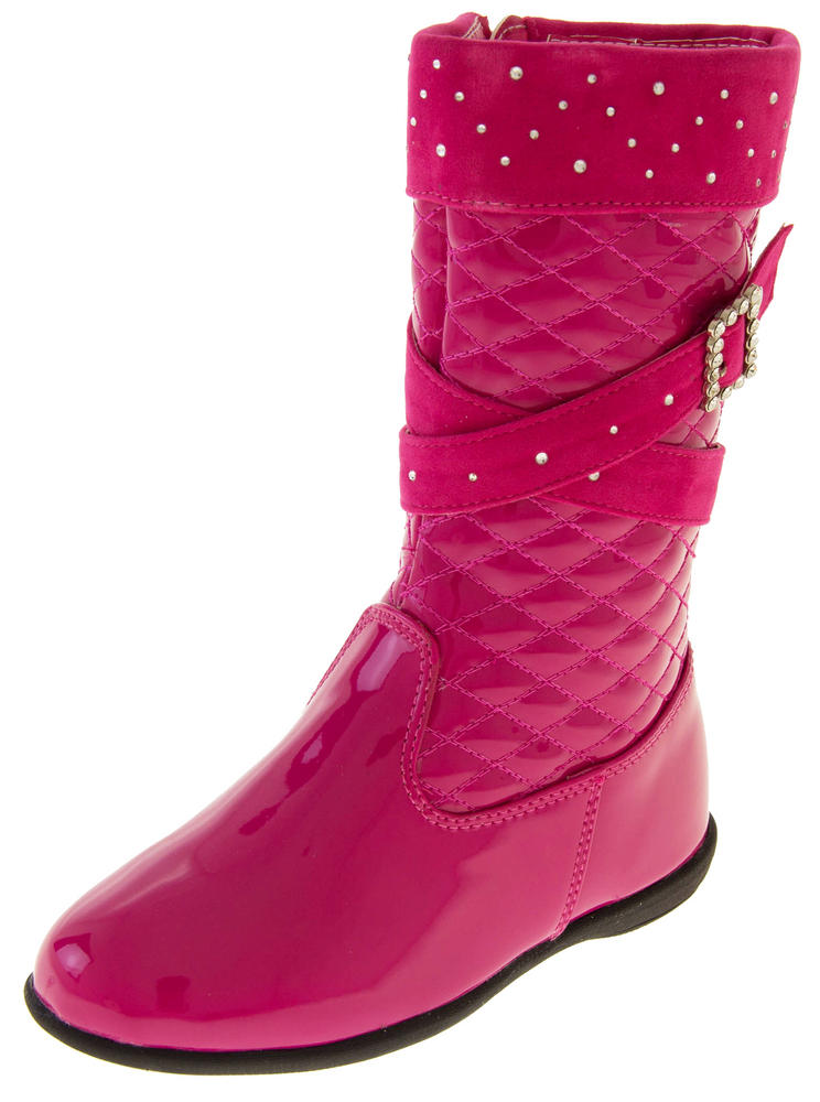 Girls Disco Party Low Heel Fashion Boots