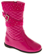 Girls Disco Party Low Heel Fashion Boots Thumbnail 2