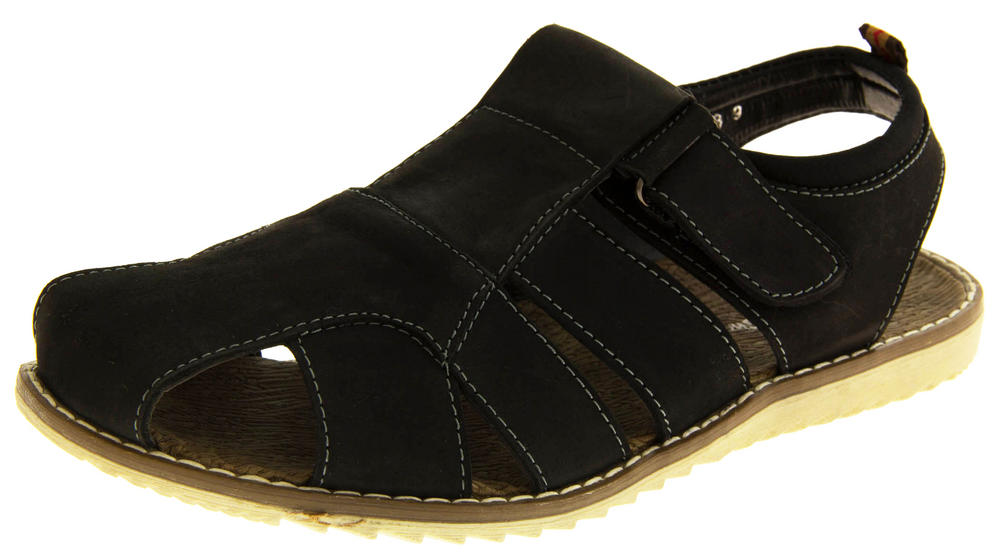 Mens SHORESIDE Leather Walking Sports Sandals