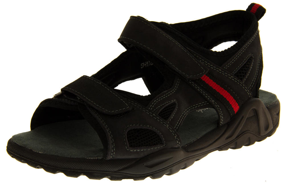 Mens SHORESIDE Leather Open Toe Sports Sandals