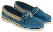 Womens SEAFARER Leather Moccasin Deck Shoes Thumbnail 4