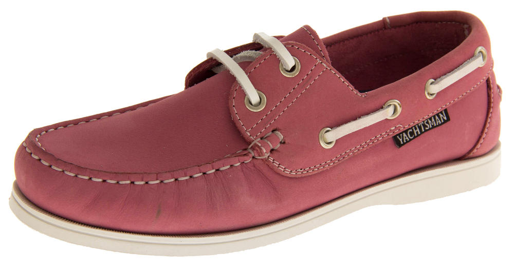 Womens YACHTSMAN Leather Sailing Deck Shoes