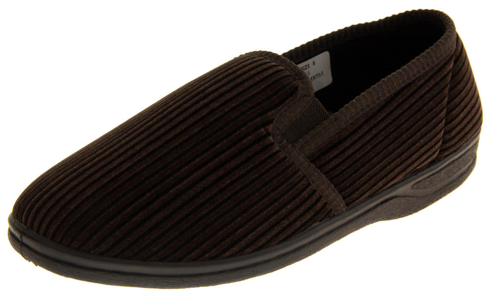 Mens Causal Outdoor Sole Twin Gusset Slippers