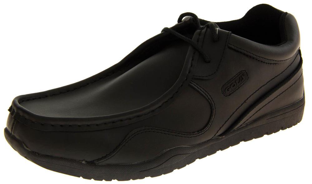 Mens GOLA Leather Formal Hi-Top Work Shoes Older Boys School Shoes