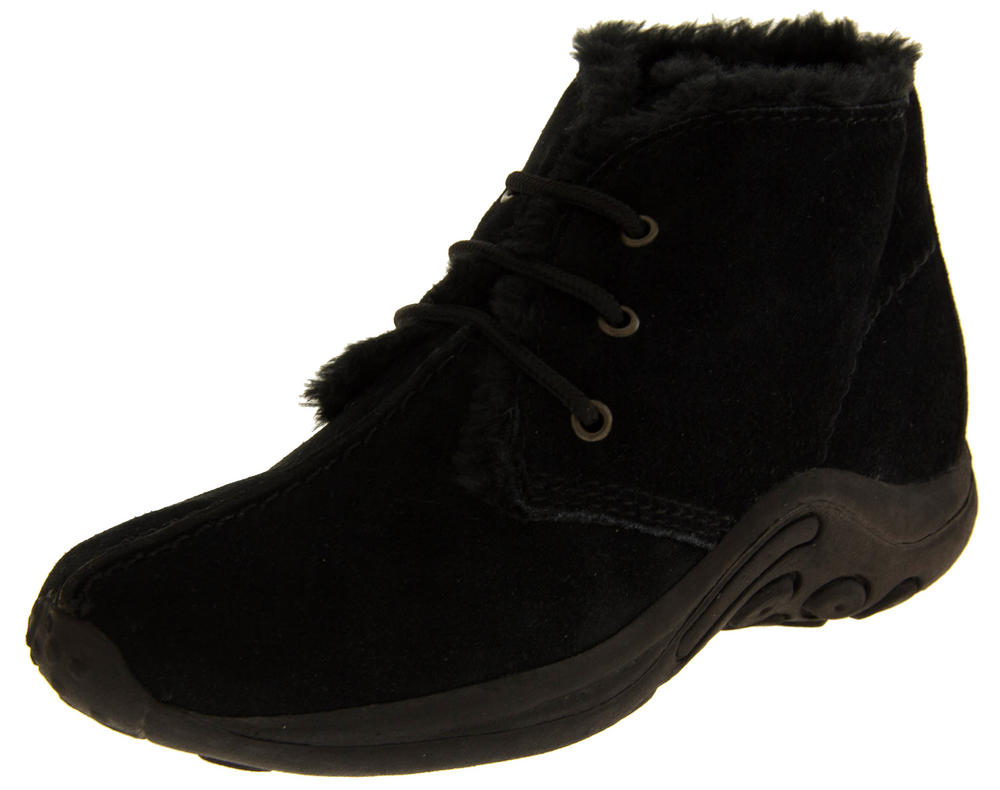 Ladies LEATHER REGINA Faux Fur Lined Boots