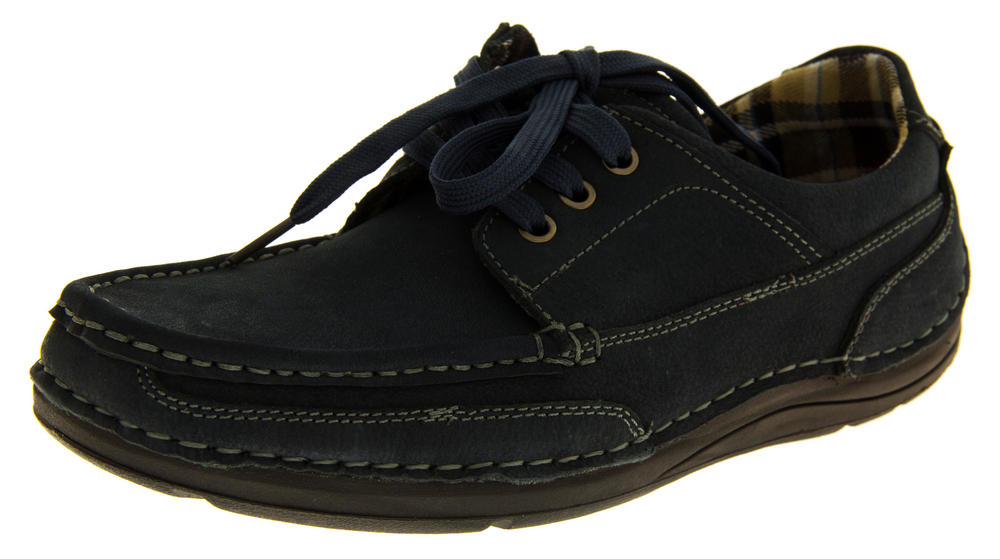 Mens LEATHER HELMSMAN Casual Shoes