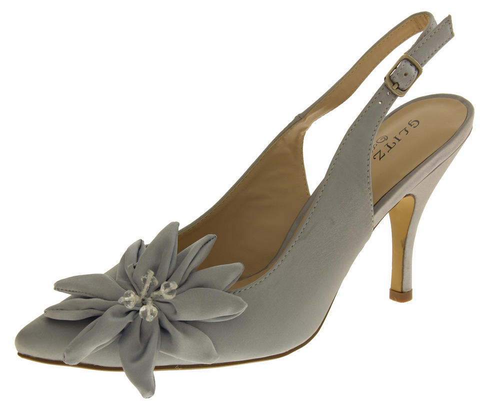 Womens Mid High Slingback Sandals