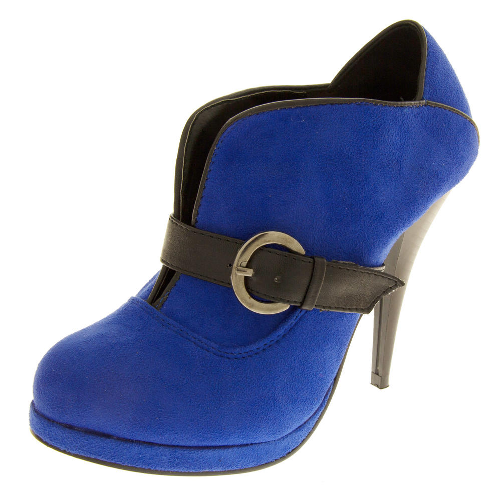 Ladies High Heel Ankle Shoe Boots