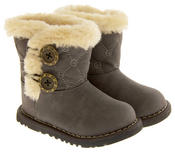 Infant Girls Fur Lined Twin Button Winter Boots Thumbnail 6