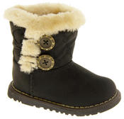 Infant Girls Fur Lined Twin Button Winter Boots Thumbnail 3