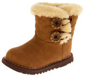 Infant Girls Fur Lined Twin Button Winter Boots Thumbnail 9