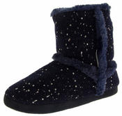Womens Comfy Slippers Ladies Sequin Warm Cosy Luxury Flat Boot Slippers Size 3-8