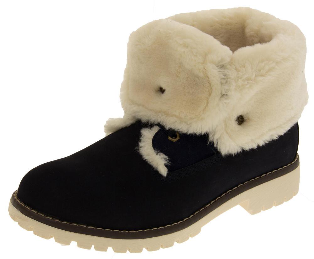 Womens KEDDO Hi Top Thick Fur Trainer Boots
