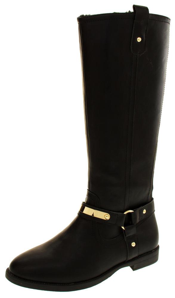 Womens KEDDO Low Heel Faux Lined Winter Boots