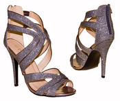 Ladies High Heel Glitter Sandals Strappy Stiletto Party Shoes 3 4 5 6 7 8  Thumbnail 9