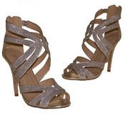 Ladies High Heel Glitter Sandals Strappy Stiletto Party Shoes 3 4 5 6 7 8  Thumbnail 11