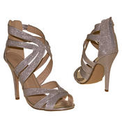 Ladies High Heel Glitter Sandals Strappy Stiletto Party Shoes 3 4 5 6 7 8  Thumbnail 12